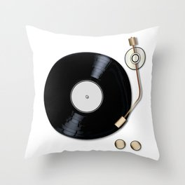 Record Deck Throw Pillow