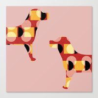 dogs Canvas Prints featuring Dogs by Yasmina Baggili