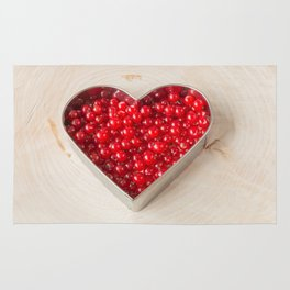 Loving red currants Rug