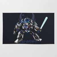 transformer Area & Throw Rugs featuring R2-D2 Transformed - The Dark Side by KrikSix