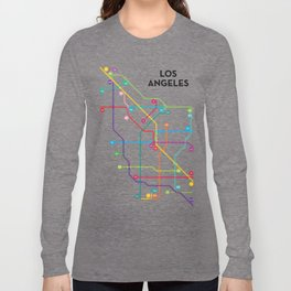 Los Angeles Freeway System Long Sleeve T-shirt