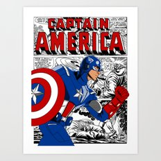 Captain 'merica Comic Art Print