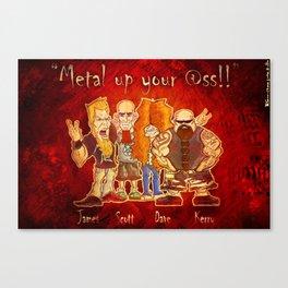 The Big Four of Thrash Metal!  Canvas Print