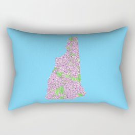 New Hampshire in Flowers Rectangular Pillow