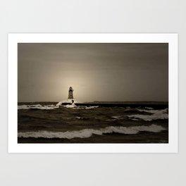 Lighthouse Spray Art Print