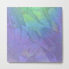 Rainbow in Palms Metal Print