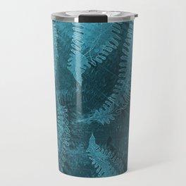 Ferns (light) abstract design Travel Mug