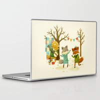 spring Laptop & iPad Skins featuring Critters: Spring Dancing by Teagan White
