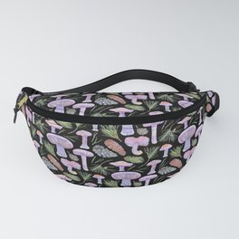 Wood Blewits and Pine Dark Pattern Fanny Pack