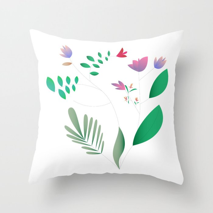 Light Summer Throw Pillow