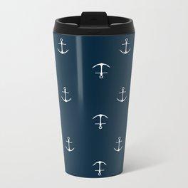 Anchor Print Metal Travel Mug