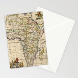 Vintage Map of Africa (1660)  Stationery Cards