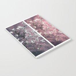 Vincent Van Gogh Almond Blossoms Panel Dark Pink Eggplant Teal Notebook
