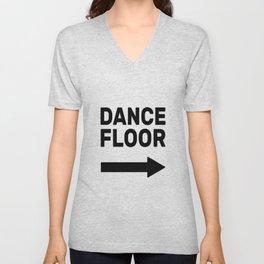 Dance Floor (arrow point right) Unisex V-Neck
