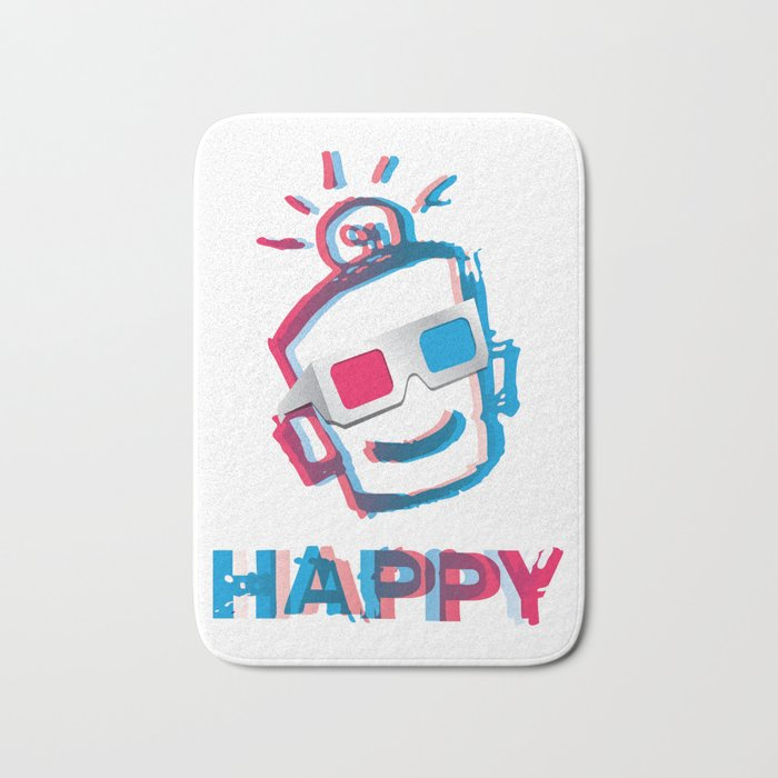 3D HAPPY Bath Mat