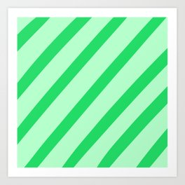 Leaf Stripes Art Print