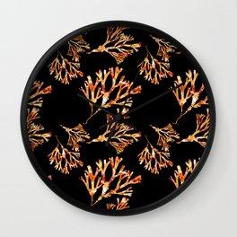 Coral Pattern Wall Clock