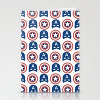 steve rogers Stationery Cards featuring Steve Rogers by Aya Ghoneim