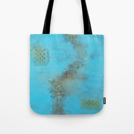 Earth. Texture. Blue. Jodilynpaintings. Brown. Abstract. Earths Crust. Tote Bag