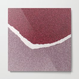 Glitter Paper Collage #8 Metal Print