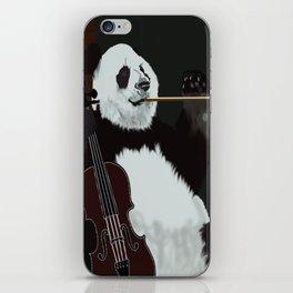 panda violinist iPhone Skin