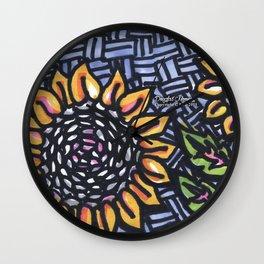 Sunflower Phone Wall Clock