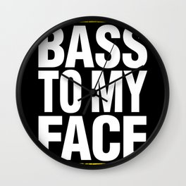 Bass To My Face (yellow/white) Wall Clock
