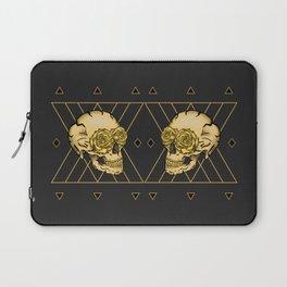 Golden Skull composition  Laptop Sleeve