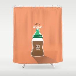 In My Fridge - Chocolate Milk Shower Curtain