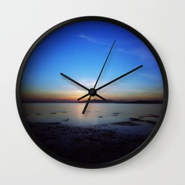 Sunset on the San Francisco Bay Wall Clock