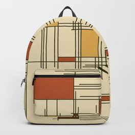 1940s Abstract Art Lines Backpack