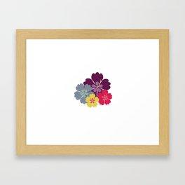 Colourful hibiskus flowers Framed Art Print