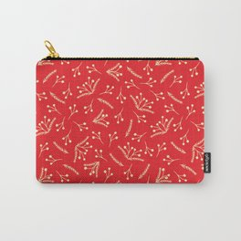 Christmas Branches and Berries in red and yellow Carry-All Pouch