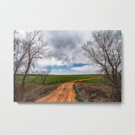 Take Me Home - Old Country Road in Oklahoma Metal Print