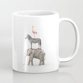 Stacked Safari Animals Coffee Mug