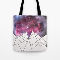 outer space Tote Bags featuring Outer Space by FlurinaJT