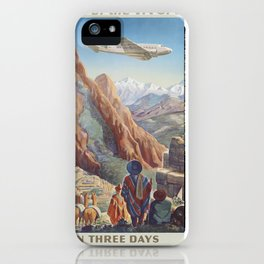Vintage poster - Peru iPhone Case