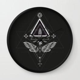 Mysterious moth Wall Clock