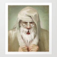 Santa's Secret Art Print