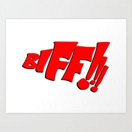 1966 Bat TV Show BIFF!!! Art Art Print