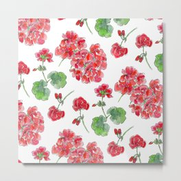 Red malvon pattern Metal Print