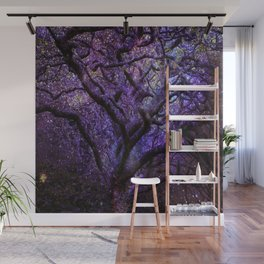 Mystic Tree of Knowledge Purple Wall Mural