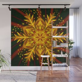Forest Fire Flake Wall Mural