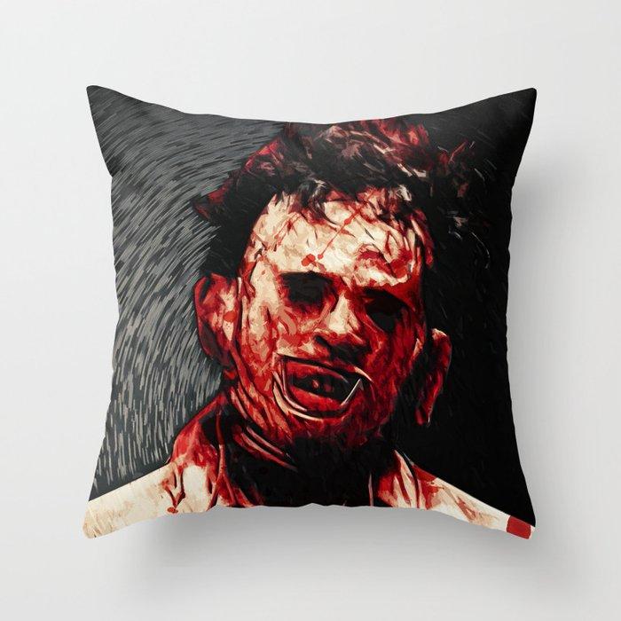 Leatherface Throw Pillow