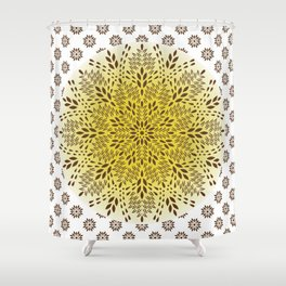 Brown Tapetesy Shower Curtain