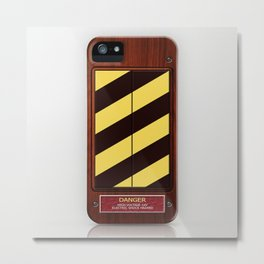 High voltage Ghost Trap box iPhone 4 4s 5 5s 5c, ipod, ipad, pillow case and tshirt Metal Print