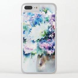 Still Life Rose Bouquet Watercolour Clear iPhone Case