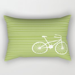 Green Bike Rectangular Pillow