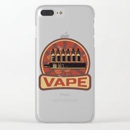 Vape Propaganda | Vaper Vaping E-Cigarette Clear iPhone Case