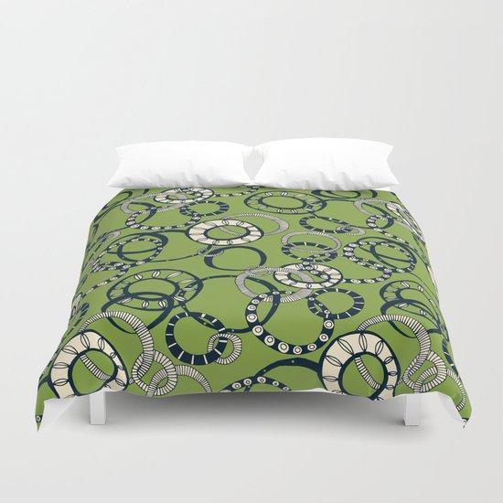 Honolulu hoopla green Duvet Cover